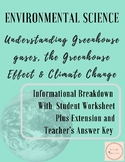 Understanding Greenhouse Gases, The Greenhouse Effect and Climate Change