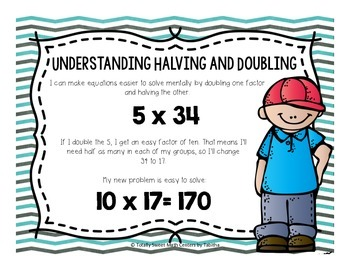 Understanding Halving and Doubling- a Multiplication Strategy