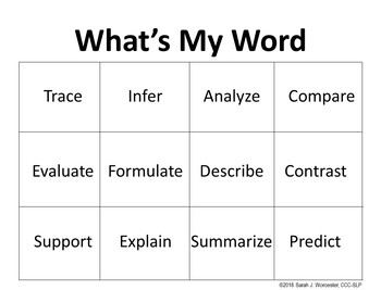 Understanding High Stakes Test Words