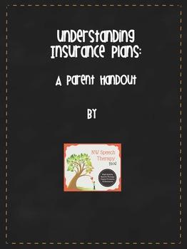 Understanding Insurance Plans: A parent handout