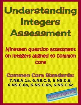 Understanding Integers Assessment