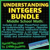 Understanding Integers Bundle - Distance Learning