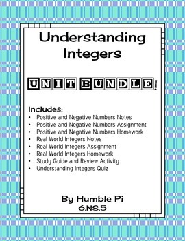 Understanding Integers Bundle-6.NS.5