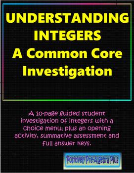 Understanding Integers Investigation