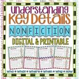 Understanding Key Details Basic Comprehension Questions Task Cards {NONFICTION}