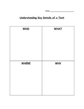Understanding Key Details of a Text