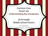 Understanding Key Vocab 24 Middle School Common Core Posters