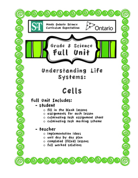 Understanding Life Systems - Cells - Full Unit