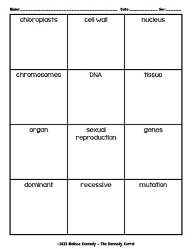 Life Science Vocabulary