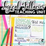 Logical Fallacies Teaching Unit: Activities, Quiz, Sketch Notes