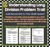 Long Division Problem Trail - Add Movement To Your Math -Dividing Numbers