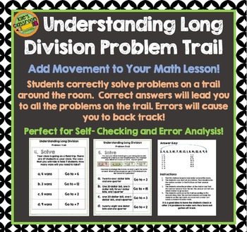 Long Division Problem Trail - Add Movement To Your Math -D