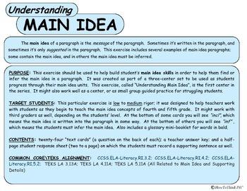 Understanding Main Idea