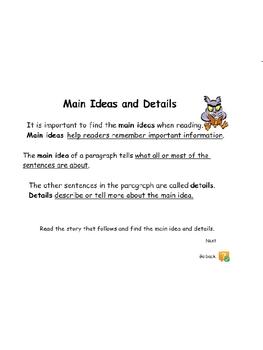 Understanding Main Idea and Details