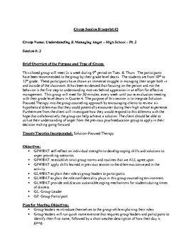 Group Counseling Template: Understanding Anger Management Pt. 2