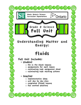 Understanding Matter and Energy - Fluids - Full Unit