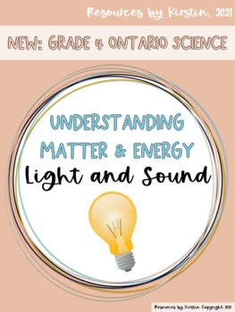 Light and Sound Understanding Matter and Energy
