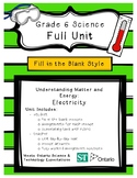 Matter and Energy - Electricity (Grade 6 Ontario) - Fill in the Blanks Unit