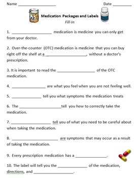 Understanding Medication Labels for Secondary Life Skills Students