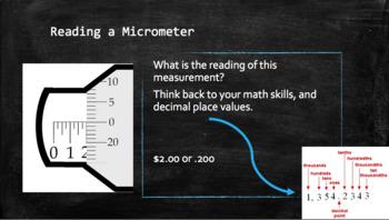 Understanding Micrometers Powerpoint and Worksheet