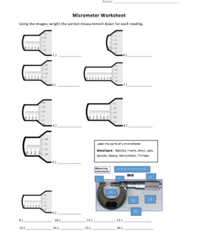 understanding micrometers powerpoint and worksheet by here by the owl. Black Bedroom Furniture Sets. Home Design Ideas