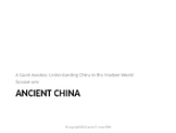 Session 1 - Ancient China