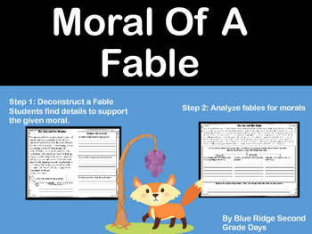 Understanding Moral Of A Fable