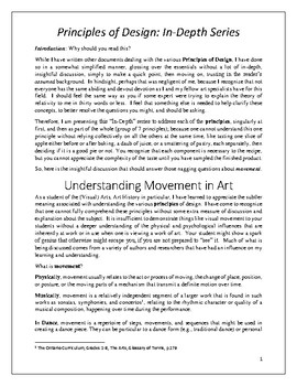 Understanding Movement in Art, an In-Depth View