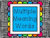 Understanding Multiple Meaning Words {powerpoint}