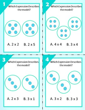Understanding Multiplication - Groups and Arrays Task Cards
