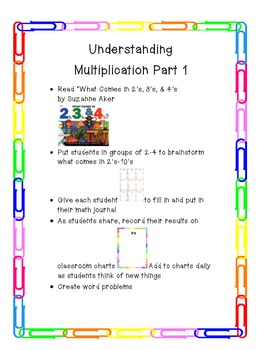 Understanding Multiplication Part 1