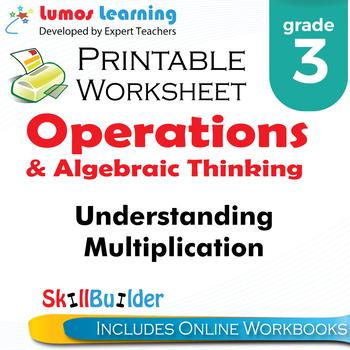 Understanding Multiplication Printable Worksheet, Grade 3