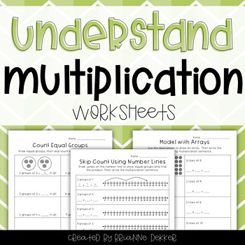 Multiplication Worksheets With Arrays Teaching Resources Teachers
