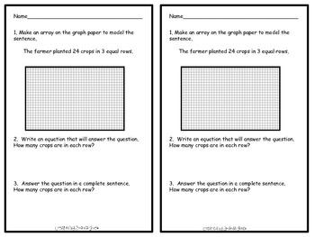 Understanding Multiplication and Division Story Problems