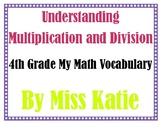Understanding Multiplication and Division 4th Grade My Math Vocabulary Posters