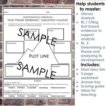 Narrative Short Story Worksheet and Graphic Organizer for One Friday Morning