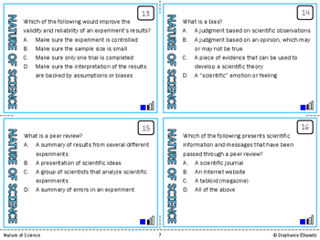 Understanding the Nature of Science Task Cards