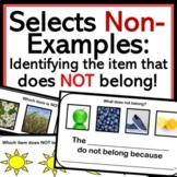 What does not belong? (Negation Speech Therapy)
