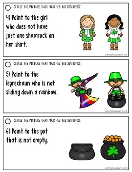 Understanding Negation in Sentences: St. Patrick's Day Edition