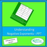 Algebra 1 - Understanding Negative Exponents- PPT