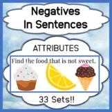 Negatives in Sentences - Attribute Focus
