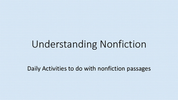 Understanding Nonfiction