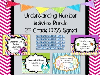 Understanding Number: 2nd gr CCSS Aligned Activities Bundle