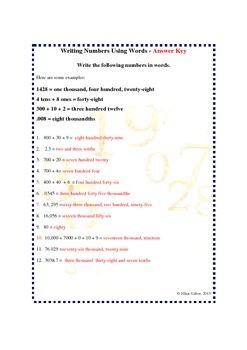 Understanding Numbers Worksheets