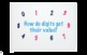 Understanding Numbers in Ones Tens and Hundreds Place Value PPT
