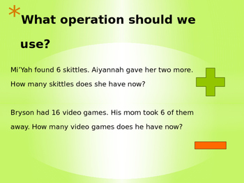 Understanding Operations - Addition and Subtraction Powerpoint Lesson