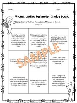Understanding Perimeter Editable Choice Board