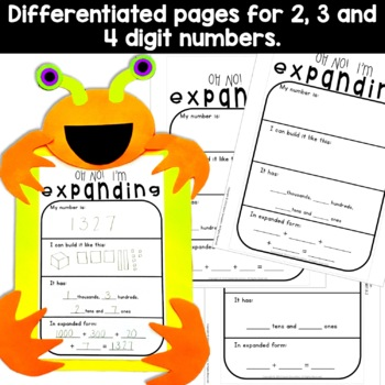 Place Value Craft Activity (Expanded Form)