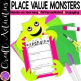 Place Value Craft   Expanded Form Monster   2, 3 and 4 digit place value