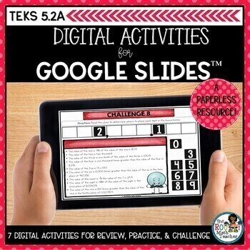 Understanding Place Value Google Classroom | Digital Math Activities